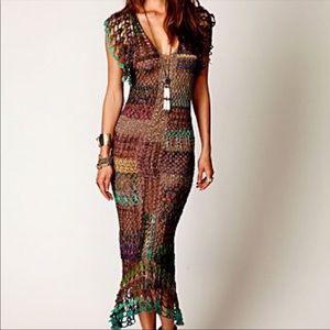 Free People sexy curve hugging crochet dress